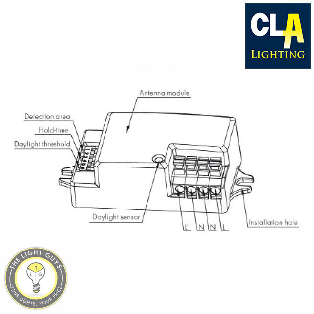 CLA Microwave IP20 Motion Sensor - TheLightGuys