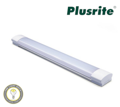 PLUSRITE LED Tri Colour Batten Lights 265V IP44 Linkable 600mm (20W) | 1200mm (40W) - TheLightGuys