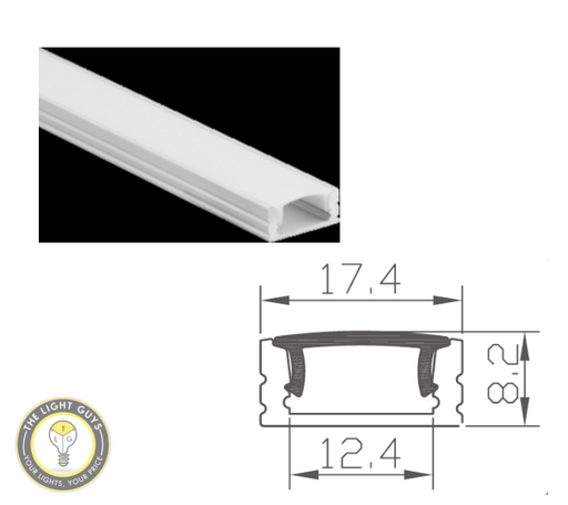 TLG Slim Bevel LED Channel per 3 Meter Lengths - TheLightGuys