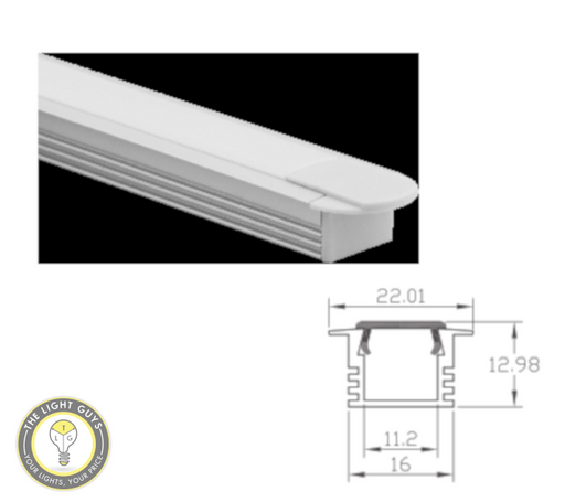 TLG Recessed Standard Profile (13mm Depth) LED Channel per 3 Meter Lengths - TheLightGuys