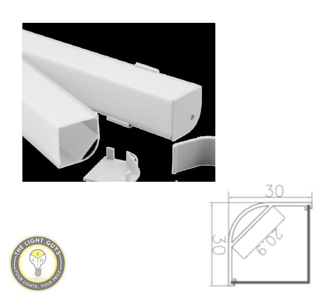 TLG Large Wall Corner LED Channel per 2 Meter Lengths - TheLightGuys