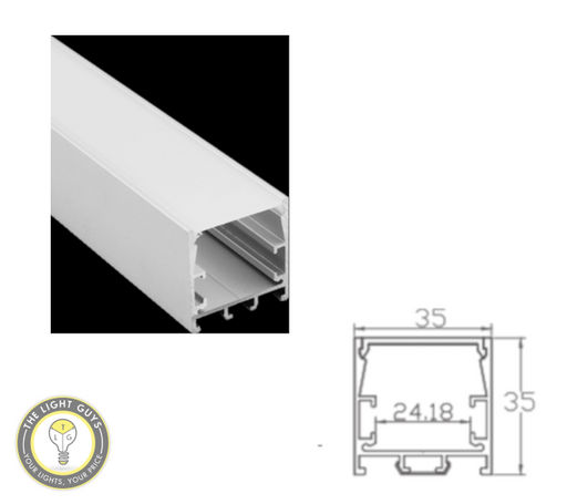 TLG LED Standard Modular Channel per 3 Meter Lengths - TheLightGuys