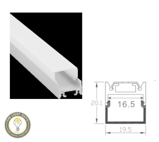 TLG Small Diffused Bar LED Channel per 3 Meter Lengths - TheLightGuys