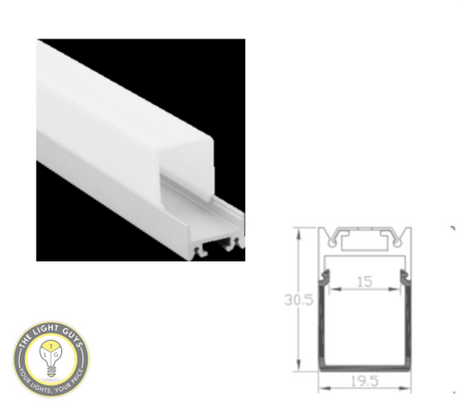TLG Large Diffused Bar LED Channel per 3 Meter Lengths - TheLightGuys