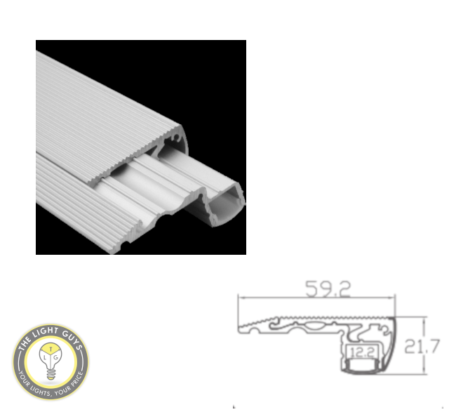 TLG Stair Mounted LED Channel per 2 Meter Lengths - TheLightGuys