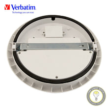VERBATIM LED OYSTER CEILING LIGHT 12W | 18W | 25W 200-240v 4K IP54 250mm | 300mm | 350mm Ø Dimmable - TheLightGuys