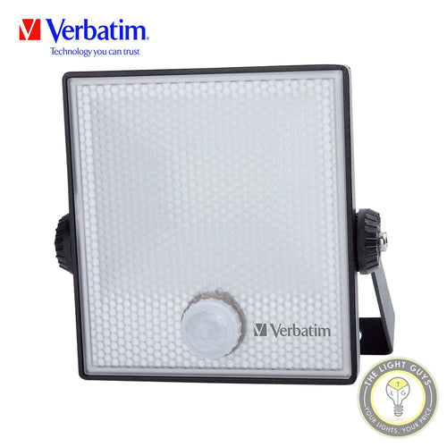 VERBATIM Sensor LED Floodlight 10w | 30w | 50w 220-240v 5000k IP65 IK07 - TheLightGuys