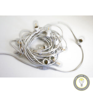 Commercial Grade 15 Meter(15 Lamp) Extendable Festoon lighting IP65 WHITE | BLACK - TheLightGuys