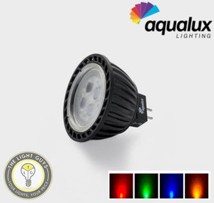AQUALUX LED MR16 4w 12-24v GX5.3 3000k | Blue | Red | Amber | 40deg° - TheLightGuys