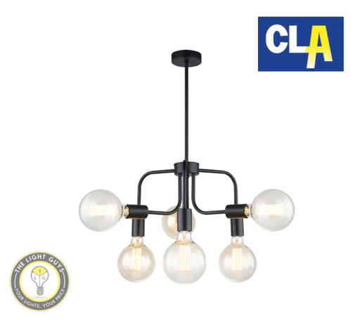 CLA Modern Abstract Pendant Lights Black |  Gold (Globe not included) - TheLightGuys