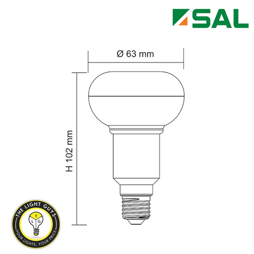 SAL R63 E27 7W 240V 650lm 3000K | 6000K Non Dimmable - TheLightGuys