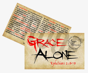 Grace Alone-Gospel Tract (3x5) Starting at $8.00