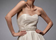 Alexandra - Taffeta and Organza Draped Gown