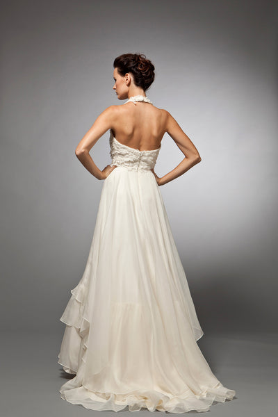 Charlotte - Silk Organza Bridal Gown with Embroidered