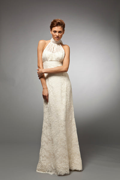 Cecile - French Lace Sleeveless Gown