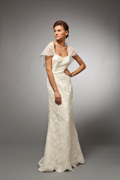 Gaelle - Strapless French Lace Organza Bridal Gown