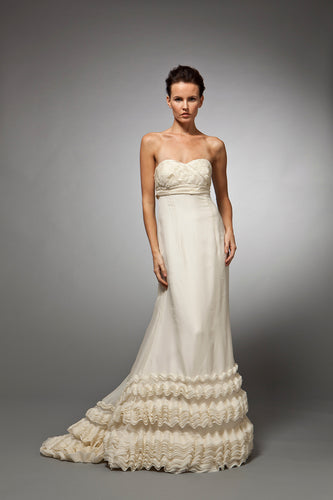Camille - Strapless Empire Organza Gown