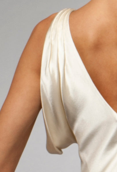 Ines (Sale) - Bias Crepe Back Satin Gown