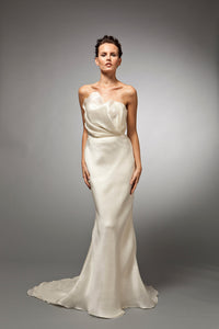 Helene (Sale) - Satin Organza Strapless Bridal Gown