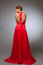 Desiree - Red silk gazar gown