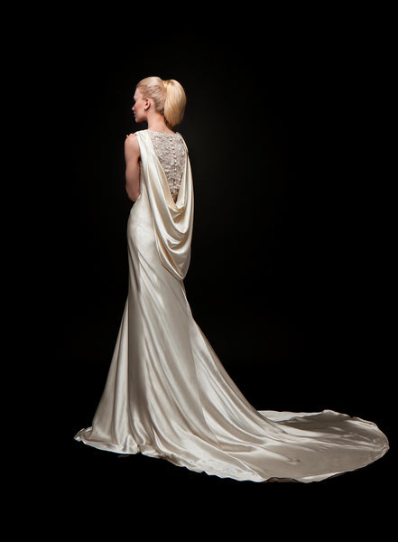 Thea - Stylish Crepe Back Satin Bridal Gown