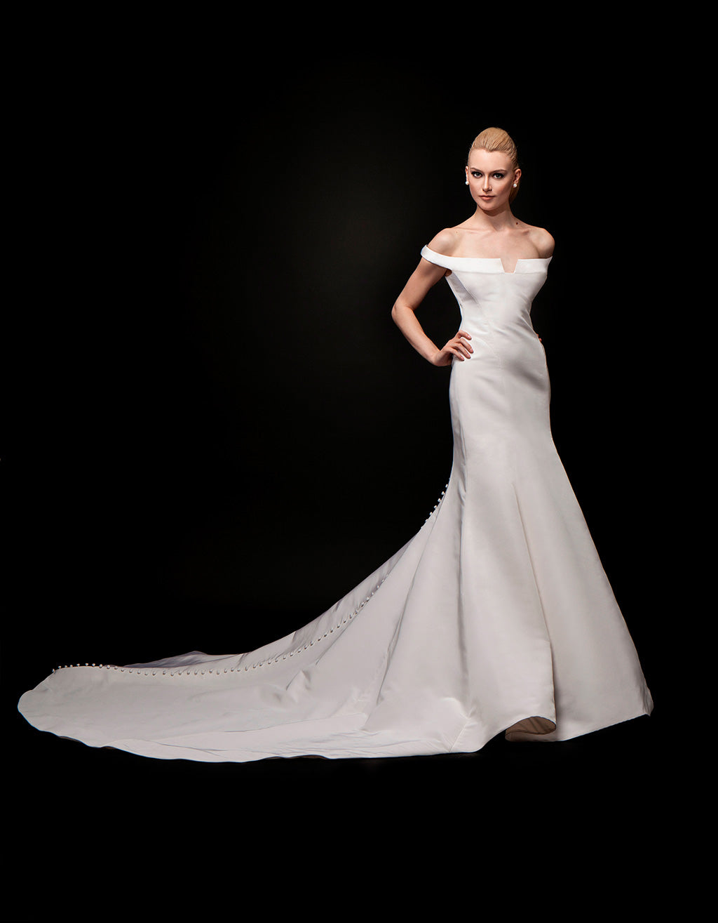 Carrie - Off the Shoulder Bridal Gown