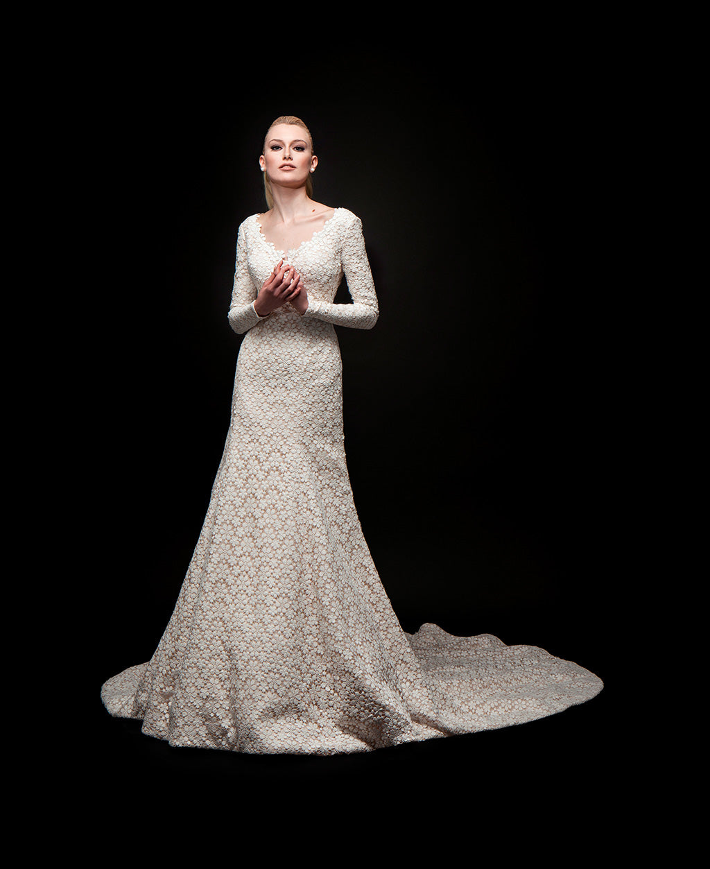 Willa - Lace Long Sleeve Bridal Gown