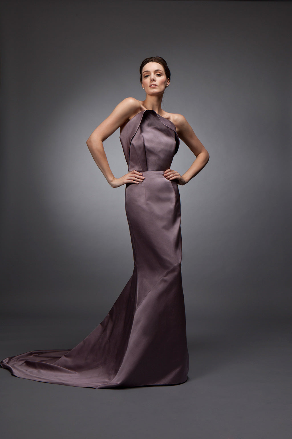 Vivienne - Double faced satin sheath gown