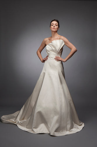 Margot - Double Face Silk Satin Strapless Gown