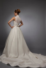 Amy - Lace and Gazar Sleeveless Bridal Gown
