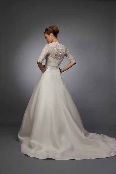 Anne - Lace with Asymmetrical Gazar Gown