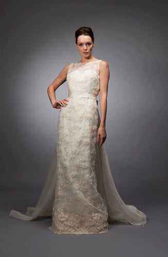 Marta - Lace and organza gown