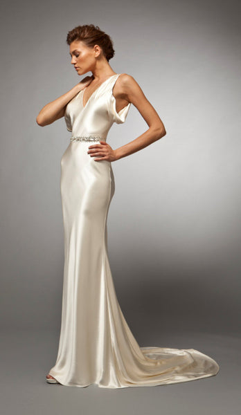 Ines - Bias Crepe Back Satin Gown