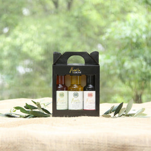 Caramelised Apple Cider Vinegar + Extra Virgin Olive Oil + Balsamic Beetroot Drizzle 100ml Gift Pack