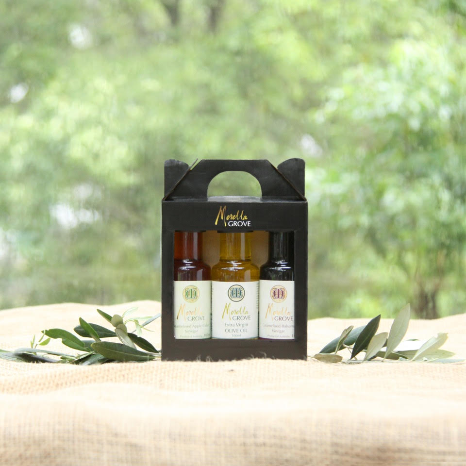 Caramelised Balsamic Vinegar + Extra Virgin Olive Oil + Caramelised Apple Cider Vinegar- 100 ml Gift Pack