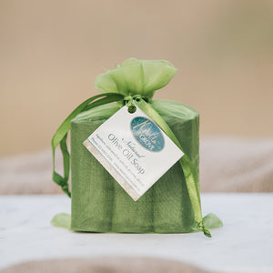 Natural Olive Oil Soap - 3 wrapped Bars in Bag