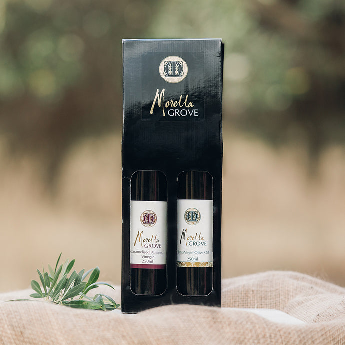 Caramelised Balsamic Vinegar + Extra Virgin Olive Oil  - Gift Pack 2x250ml