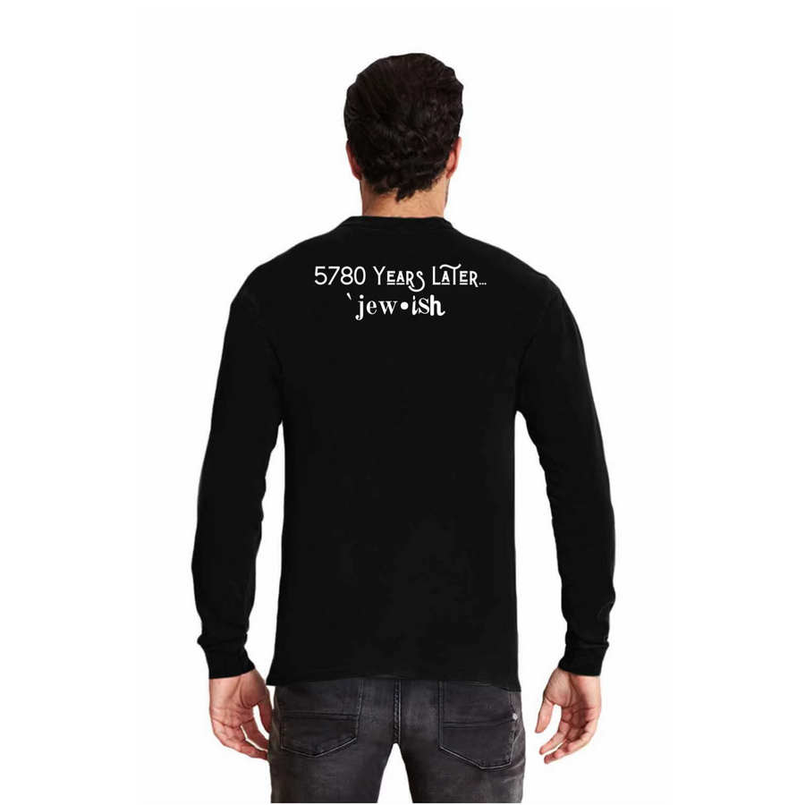 5780 Years later Jew-ish - Long Sleeve Fitted Crew