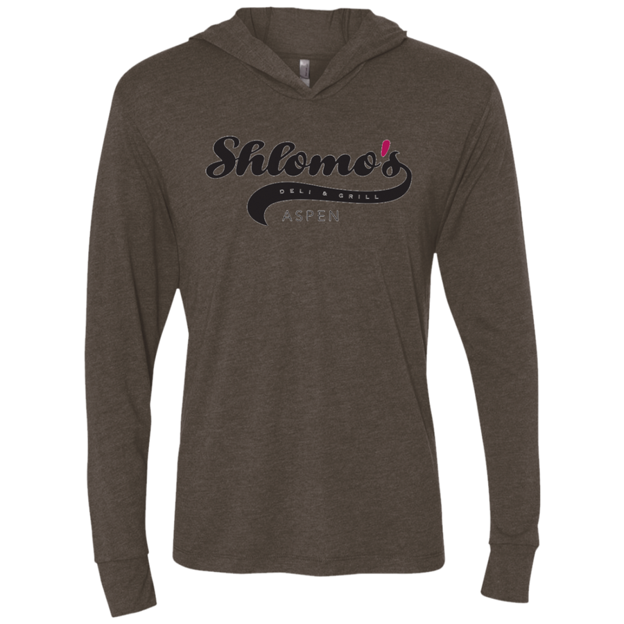Shlomo's Deli Aspen -  Next Level Unisex Triblend LS Hooded T-Shirt