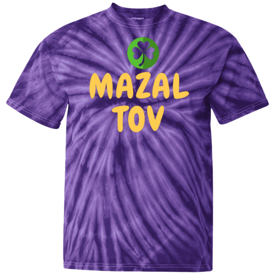 MAZAL TOV - 100% Cotton Tie Dye T-Shirt