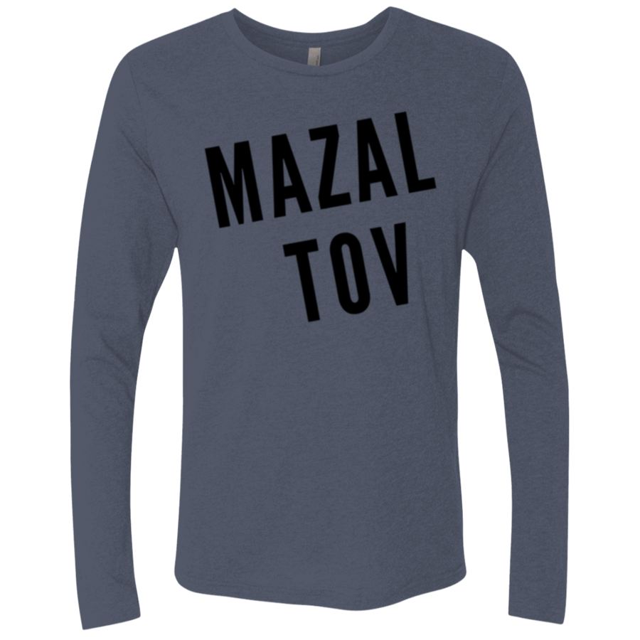MAZALTOV Next Level Men's Triblend LS Crew