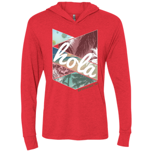HOLA - Next Level Unisex Triblend LS Hooded T-Shirt