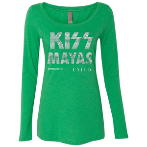KISS MAYAS UNICO - Next Level Ladies' Triblend LS Scoop