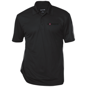 bomber -  Performance Textured Three-Button Polo