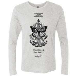 United States of North America - Next Level Unisex Triblend LS Crew