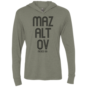 MAZALTOV MEXICO 68 - Next Level Unisex Triblend LS Hooded T-Shirt