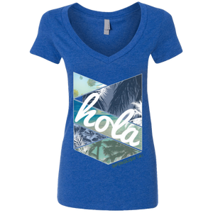 HOLA - Next Level Ladies' Deep V-Neck T-Shirt