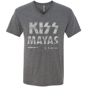 KSIS MAYAS UNICO - Next Level UNISEX Triblend V-Neck T-Shirt