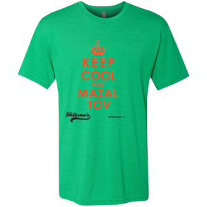 Keep Cool and Mazaltov - Crew neck Next Level Men's Triblend T-Shirt