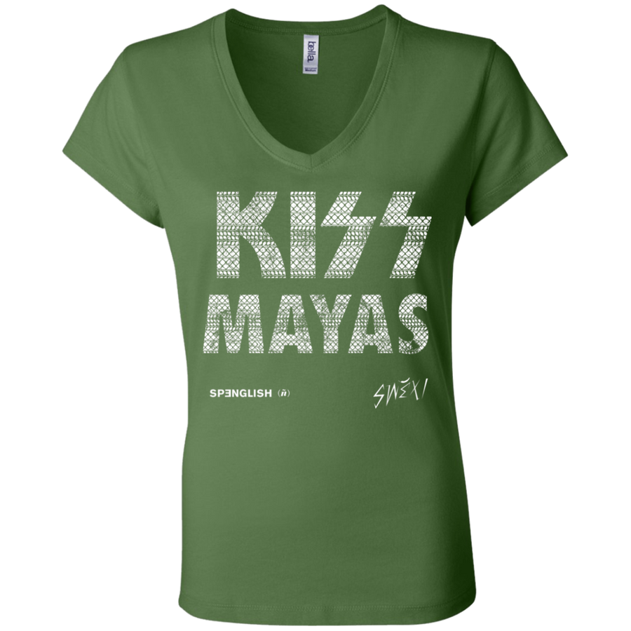 KISS MAYAS - Bella + Canvas Ladies' Jersey V-Neck T-Shirt